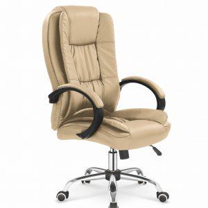 Scaun de birou directorial tapitat cu piele ecologica Relax Beige, l64xA75xH110-118 cm