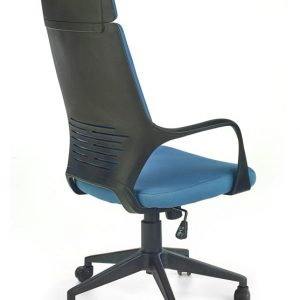 Scaun de birou directorial tapitat cu stofa Voyager Blue / Black, l64xA61xH115-125 cm