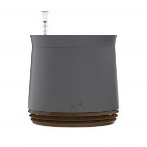 Purificator natural de aer cu ghiveci pentru plante Airy Grey / Cappuccino