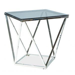 Masa de cafea din sticla Silver B, L50xl50xh53 cm