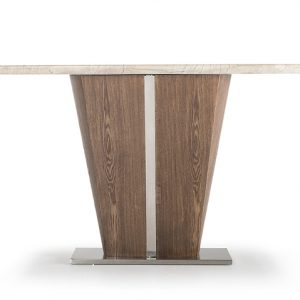 Consola din lemn si marmura Stonewood, l125xA40xH80,5 cm