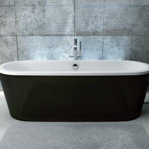 Cada free-standing Besco Victoria 160 x 75 cm cu masca culoare neagra