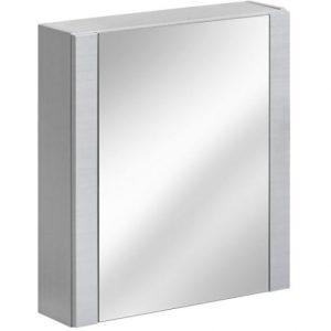 Dulap baie suspendat cu 1 usa si oglinda, Viento Terra, l60xA16xH69 cm