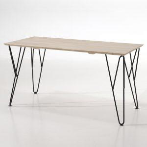 Masa de birou din lemn de pin si mesteacan William