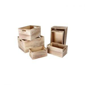 Set 6 cutii din lemn de depozitare Legler Wooden