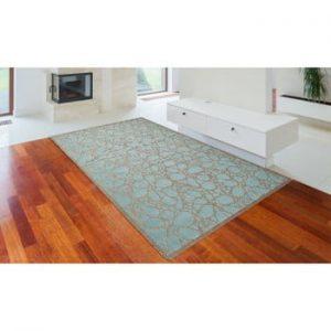 Covor foarte rezistent Floorita Fiore, 135 x 190 cm, turcoaz