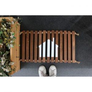 Preș/suport din lemn Doormat Woodie, 64 x 40 cm