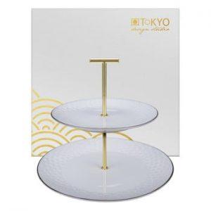 Suport etajat pentru servit Tokyo Design Studio Nippon, alb