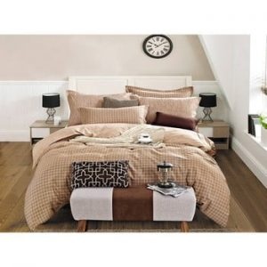 Lenjerie de pat reversibilă din bumbac DecoKing Diamond Sven, 200x220cm