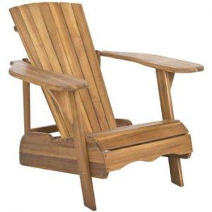 Fotoliu din lemn pentru exterior Safavieh Mopani Natural, maro
