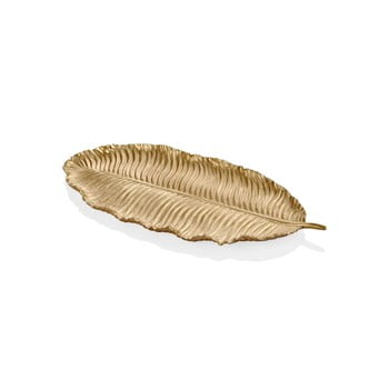 Frunză decorativă The Mia Leaf, 39 x 17 cm, auriu