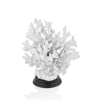 Coral decorativ The Mia Coral, 25 x 23 cm, alb