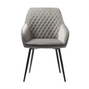 Scaun tapițat Unique Furniture Milton, gri