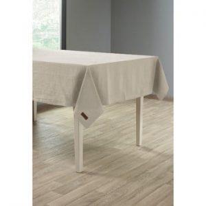 Față de masă cu adaos de in Tiseco Home Studio, 135 x 240 cm, bej