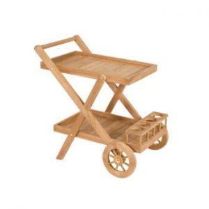 Masă pentru servit din lemn de tec Santiago Pons Troll