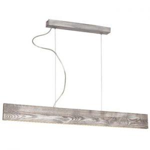 Plafonieră cu detalii din lemn Glimte LED Tuta