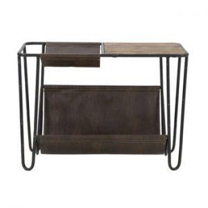 Masă cu spațiu de depozitare și blat din lemn de brad Mauro Ferretti Simply, 83,5 x 42 cm