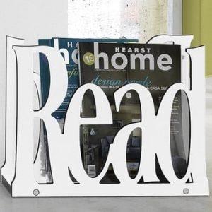 Suport pentru reviste Tomasucci Read, alb