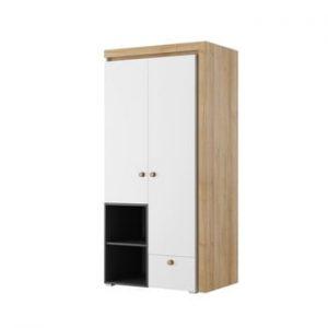 Șifonier cu 2 uși cu sertar Szynaka Meble Riva