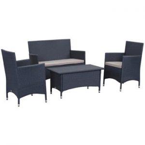 Set de mobilier pentru grădină Safavieh Venice, albastru închis