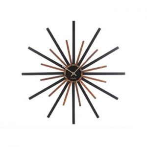 Ceas de perete Karlsson Diva, negru - maro, ø 60 cm
