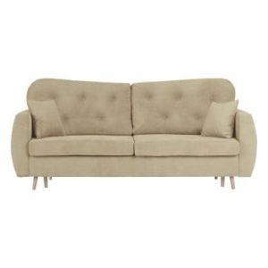 Canapea extensibilă cu 3 locuri și spațiu pentru depozitare Mazzini Sofas Orchid, bej