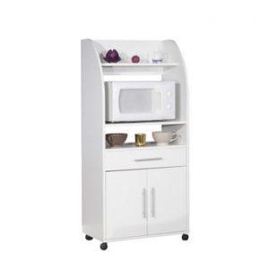 Sistem depozitare pentru bucătărie cu rafturi Symbiosis Jeanne, alb