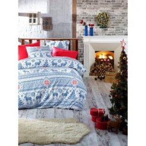 Lenjerie de pat cu cearșaf din bumbac Emily, 160x220cm