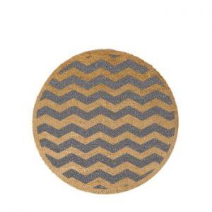 Covor intrare rotund Artsy Doormats Grey Chevron, ⌀ 70 cm