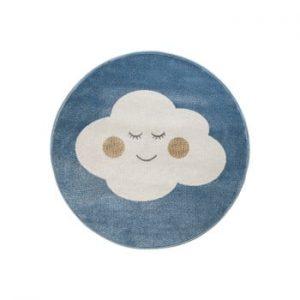 Covor rotund KICOTI Cloud, ø 133 cm, albastru-alb