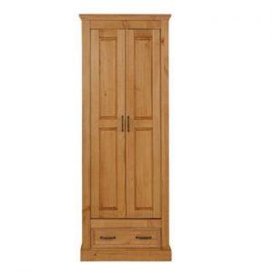 Șifonier din lemn de pin cu 2 uși Støraa Suzie, maro