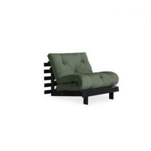 Fotoliu extensibil Karup Design Roots Black, verde