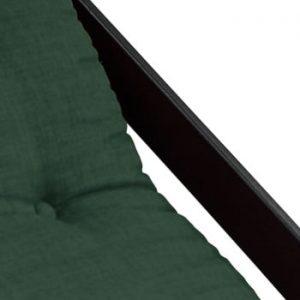 Fotoliu pliant Karup Design Boogie Black/Forest Green