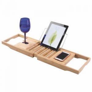 Tavă ajustabilă din bambus pentru cadă iDesign Formbu