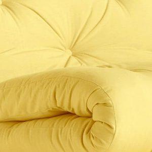 Fotoliu extensibil Karup Design Roots Raw/Yellow