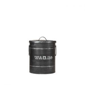 Coș metalic pentru rufe LABEL51, ⌀26cm, negru