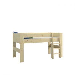 Pat supraetajat din lemn de pin pentru copii Steens For Kids, înălțime 113cm
