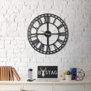 Ceas din metal pentru perete Greece, 70 x 70 cm