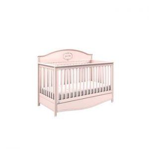 Pătuț variabil pentru copii cu sertar BELLAMY GoodNight,70x140cm, roz