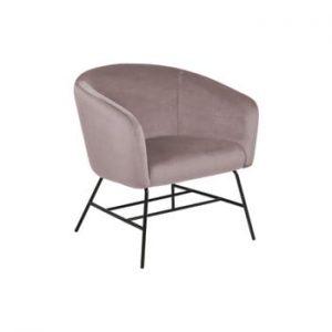 Scaun tapițat Actona Ramsey, roz pudră