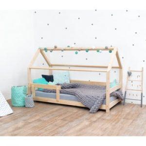 Pat pentru copii, din lemn de molid cu bariere de protecție laterale Benlemi Tery, 120 x 200 cm