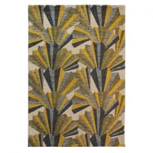 Covor țesut manual Flair Rugs Fanfare, 120 x 170 cm, galben - gri