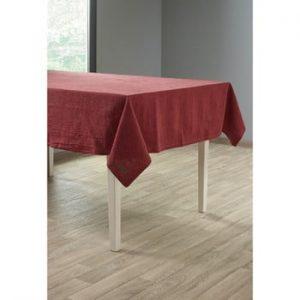 Față de masă cu adaos de in Tiseco Home Studio, 135 x 240 cm, roșu vișiniu