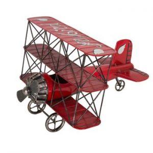 Avion decorativ Antic Line Ailes Rouge
