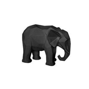 Statuetă PT LIVING Origami Elephant, negru mat