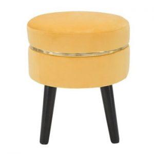 Scaun tapițat Mauro Ferretti Paris, galben