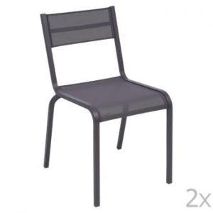 Set 2 scaune de grădină Fermob Oléron, mov