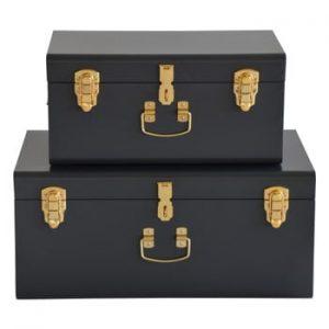 Set 2 valize metalice RGE Stella Matteus, negru