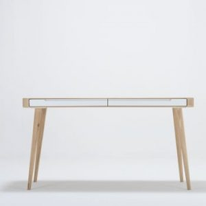Birou din lemn de stejar Gazzda Ena, 140 x 60 x 75 cm