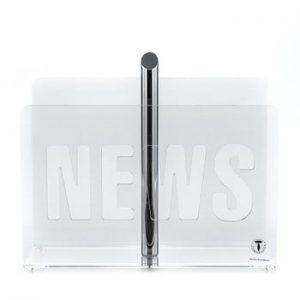 Suport pentru reviste Tomasucci News Transparent, transparent